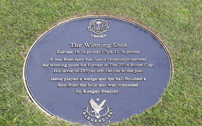 Golf Signs Scotland – Commemorative Plaque For Ryder Cup Winning Shot
