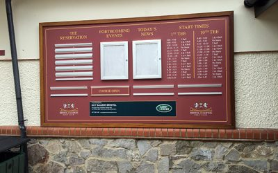 Golf Signs Bristol – New Golf Course Signage For Bristol & Clifton Golf Club