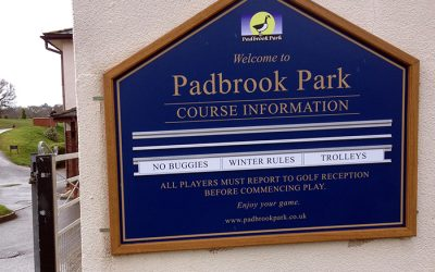 Golf Signs Devon – New Golf Signage For Padbrook Park Golf Club
