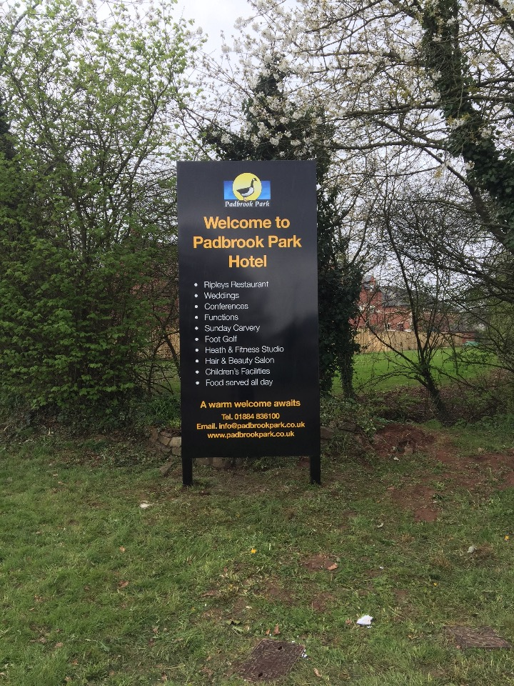 Padbrook Entrance Sign