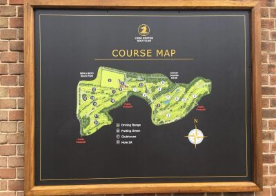 Map Golf Sign